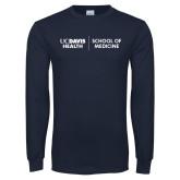 Navy Long Sleeve T Shirt-School of Medicine