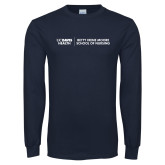 Navy Long Sleeve T Shirt-Betty Irene Moore School of Nursing