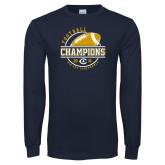 Navy Long Sleeve T Shirt-2018 Big Sky Conference Champions