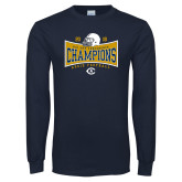 Navy Long Sleeve T Shirt-2018 Football Conference Champions