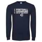 Navy Long Sleeve T Shirt-2018 Big Sky Football Champions