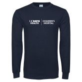 Navy Long Sleeve T Shirt-UC Davis Childrens Hospital