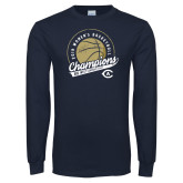 Navy Long Sleeve T Shirt-2019 Womens Basketball Big West Champions
