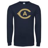 Navy Long Sleeve T Shirt-Secondary Athletics Mark