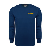 Navy Long Sleeve T Shirt-UC DAVIS