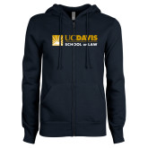 ENZA Ladies Navy Fleece Full Zip Hoodie-School of Law