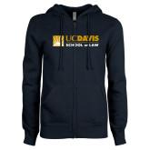 ENZA Ladies Navy Fleece Full Zip Hoodie-School of Law