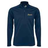 Syntrel Navy Interlock 1/4 Zip-Script Davis