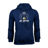 Navy Fleece Hoodie-Basketball Stacked