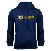 Navy Fleece Hoodie-Softball Logo Flat