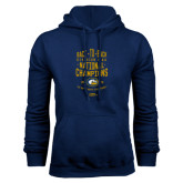 Navy Fleece Hoodie-Back-to-Back Division 1AA National Champions Mens Rugby