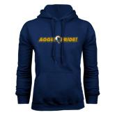 Navy Fleece Hoodie-Aggie Pride