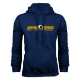 Navy Fleece Hoodie-Aggie Pride w/ Tagline