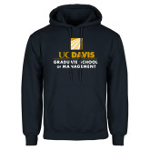 Navy Fleece Hoodie-Graduate School of Management Stacked