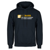 Navy Fleece Hoodie-Graduate School of Management Flat