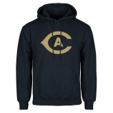 Navy Fleece Hoodie-Secondary Athletics Mark