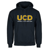 Navy Fleece Hoodie-UCD Mark with School Name
