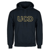 Navy Fleece Hoodie-UCD Mark