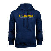 Navy Fleece Hoodie-UC DAVIS U of C