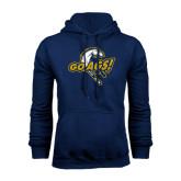 Navy Fleece Hoodie-Go Ags Logo