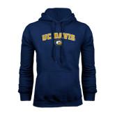 Navy Fleece Hoodie-Arched UC Davis Logo