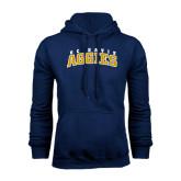 Navy Fleece Hoodie-Arched UC Davis Aggies