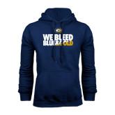 Navy Fleece Hoodie-We Bleed