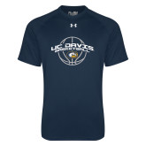 Under Armour Navy Tech Tee-Basketball Arched