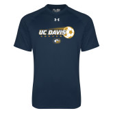 Under Armour Navy Tech Tee-Soccerball with Flying Ball