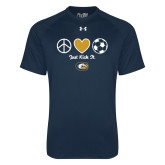 Under Armour Navy Tech Tee-Soccerball Just Kick It
