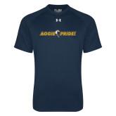 Under Armour Navy Tech Tee-Aggie Pride