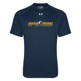 Under Armour Navy Tech Tee-Aggie Pride w/ Tagline