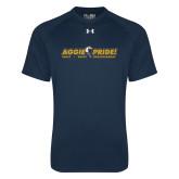 Under Armour Navy Tech Tee-Aggie Pride w/ Tagline