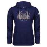 Adidas Climawarm Navy Team Issue Hoodie-Adidas Aggies Football Logo