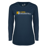 Ladies Syntrel Performance Navy Longsleeve Shirt-College of Agricultural and Environmental Sciences