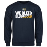 Navy Fleece Crew-We Bleed