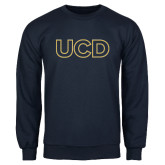 Navy Fleece Crew-UCD Mark