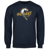 Navy Fleece Crew-Go Ags Logo