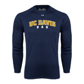 Under Armour Navy Long Sleeve Tech Tee-Dad
