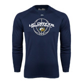 Under Armour Navy Long Sleeve Tech Tee-Basketball Arched