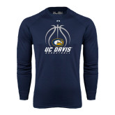 Under Armour Navy Long Sleeve Tech Tee-Basketball Stacked