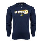 Under Armour Navy Long Sleeve Tech Tee-Soccerball with Flying Ball
