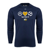 Under Armour Navy Long Sleeve Tech Tee-Soccerball Just Kick It