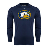 Under Armour Navy Long Sleeve Tech Tee-Official Logo