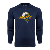 Under Armour Navy Long Sleeve Tech Tee-Go Ags Logo
