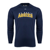 Under Armour Navy Long Sleeve Tech Tee-Arched UC Davis Aggies