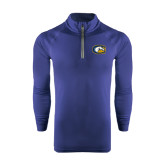 Under Armour Navy Tech 1/4 Zip Performance Shirt-Official Logo