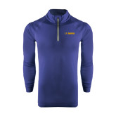 Under Armour Navy Tech 1/4 Zip Performance Shirt-UC DAVIS