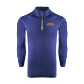Under Armour Navy Tech 1/4 Zip Performance Shirt-UC DAVIS Aggies