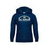 Youth Navy Fleece Hoodie-Football Horizontal